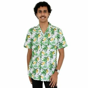 Pineapple Party Mens Cotton Hawaiian Shirt