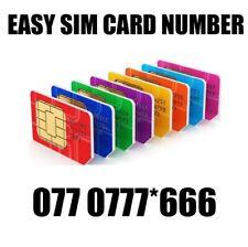 GOLD EASY VIP MEMORABLE MOBILE PHONE NUMBER DIAMOND PLATINUM SIMCARD 0770777
