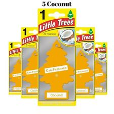 X5 Little Trees COCONUT Scent Magic Trees Hanging Air Freshner Car Truck home
