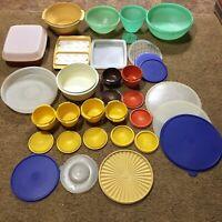 Tupperware Fix Mix Servalier Marinate Bowls Lids Kitchen Cook Storage Lot of 34