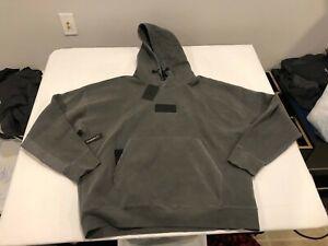 NWT $130.00 Nike Mens Jordan 23 Engineered Double Knit Hoodie Gray Size XL