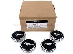 2013-2014 Ford Mustang Wheel Center Caps w/ Pony Logo w/o Tri-bar Set Of 4 OEM