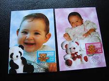 FRANCE - 2 cartes 1er jour 23/3/2001 (garcon/fille) (cy39) french