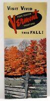 Vintage Visit Vivid Vermont This Fall Travel Brochure 1960s