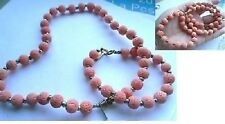 parure ancienne bijou pierre de lave orange collier bracelet signé JOUVANCE 4374