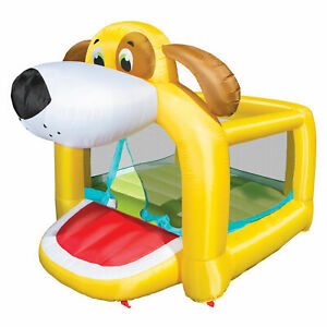 Banzai Playful Puppy Inflatable Bouncy Jumper Bounce House for Kids w/ Blower