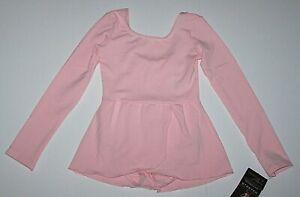 Danskin Leotard Leo Dress Skirt Long Sleeve Dance Pink New Child Girl