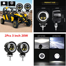 3inch 20W 6000K LED Driving Lamp Round Spotlights Offroad Car 4x4 Work Lights