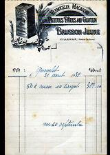 """VILLEMUR (31) PATES ALIMENTAIRES """"VERMICELLE MACARONI / BRUSSON Jeune"""" en 1939"""