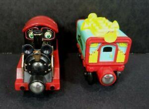 Chuggington Wooden Old Puffer Pete Train & Musical Car