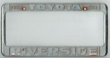 "RARE Riverside California Toyota ""Service First"" Vintage JDM License Plate Frame"