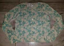 bonpoint girls green floral cardigan 10y nwt