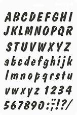 Schablone 21x31cm rot-transparent Kunststoff 25mm Schrifthöhe Schreibschrift