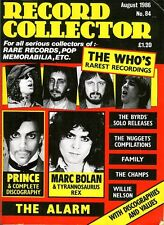 Record Collector August 1986 - The WHO  (w/ Prince, Marc Bolan, Byrds solo)