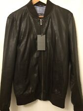 Size Small Brown Faux Leather Bomber Jacket From Zara New Men