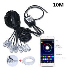 8In1 RGB LED W/ 10M Car Interior Decor Neon EL Fiber Optical Strip Light BT APP
