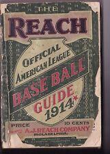 1914 The Reach Official American League Baseball Guide Book
