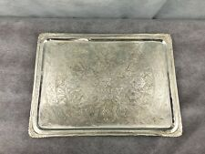 Islamic 875 Solid Silver chiseled Tray 727 Gr