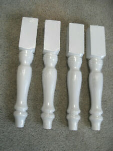 "15-3/8"" white finished Farmhouse Bench Legs or Coffee Table Legs, Set of 4"