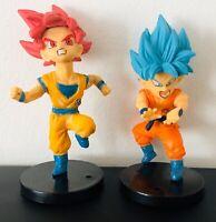 Super Saiyan God Goku & Super Saiyan Blue Dragon Ball Figures
