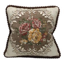 CURCYA Luxury Chenille Cushion Cover Jacquard European Sofa Decor Pillow Covers