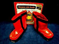 Fireman Red Vinyl Rain Boots for Toddler Size Large 3T