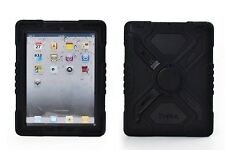Pepkoo Black Heavy Duty Hybrid Shockproof Waterproof Case For iPad 2/3/4