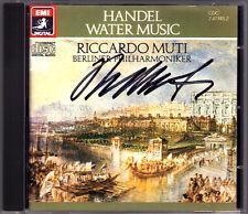 Riccardo MUTI Signiert HANDEL Water Music Wassermusik CD Berliner Philharmoniker