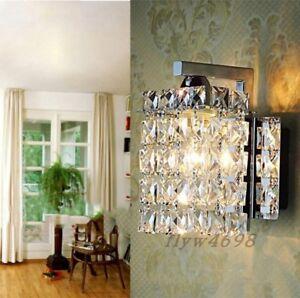 Crystal Wall Lamp Luminaria Home Lighting Living Room Modern Bathroom Wall Light