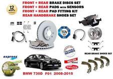 para BMW 730d F01 2008- > delante + FRENO TRASERO + pastillas+ discos+ zapatas+