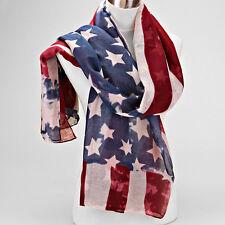 American Flag Star Printed Spring Scarf
