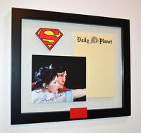 SUPERMAN Prop STATIONERY, Signed MARGOT KIDDER, COA UAC, Frame, DVD, Real CAPE!