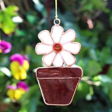 Daisy in a Flower Pot Suncatcher, Colourful Resin Window Decoration, Little Gift