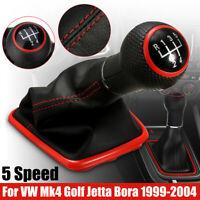 5 Speed Gear Shift Knob Gaiter Boot Cover For VW Mk4 for Golf Jetta Bora