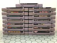 SNES Game Lot 15 Games Nintendo Ms. Pacman Jurassic Park Taz-Mania Sports