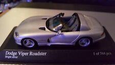1993 DODGE VIPER CABRIO in Silver 1/43 scale model by Minichamps