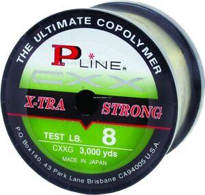 P-Line CXX-Xtra Strong Bulk Spool (3000-Yard, 15-Pound, Moss Green)