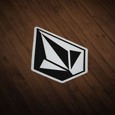 2x VOLCOM Sticker Logo Vinyl Decal Classic Skate Surf Snowboard Diamond Stone