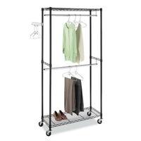 Closet Storage Holder Durable Rack Home-saving Portable Clothes Hanger Dry Shelf