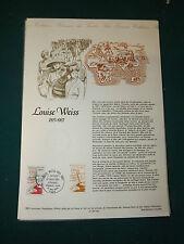 Collection Historique Timbre Poste 1er Jour : 15/05/93 - louise weiss