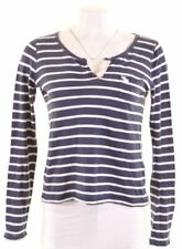 ABERCROMBIE & FITCH Womens Top Long Sleeve Size 10 Small Blue Oversized FM09