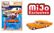 Auto World 1:64 Custom Lowriders 1966 Chevy Impala SS Metallic Orange
