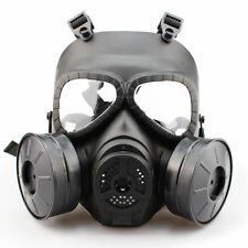 Double Filter Fan Perspiration Dust Face Guard Mask CS Edition Airsoft Gas Mask