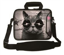 "15""-15.6""LAPTOP SLEEVE WITH HANDLE STRAP CARRY CASE BAG 4 ALL LAPTOPS *CATGLASS*"
