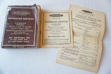 More details for sept 1954 june 1955 western region passenger railway timetable