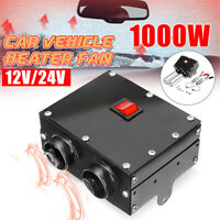 1000W Fast Heating Car Heater Warmer 12V/24V Demister Defroster Electric Fan