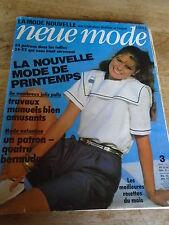 "MAGAZINE PATRONS VINTAGE ""NEUE MODE TUNIQUE BERMUDA ROBES JUPES  ETC 1981"