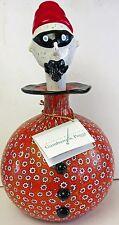 Murano Art Glass  Large Gambaro & Poggi Bottle Clown With Mask & Label Paperwork