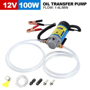 12V Portable Electric Oil Transfer Extractor Fluid Suction Pump Diesel Siphon