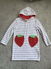 Mini Boden SWIM COVER UP size 7-8Y Girls Terrycloth Coverup Toweling Dress